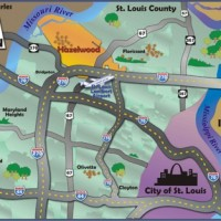 St. Louis County Map Graphic