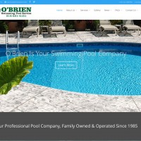 Just Finished: Redesign for O'Brien Swimming Pool Service
