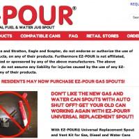 EZ-POUR Universal Fuel Spout