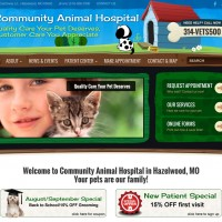 New Website for Community Animal Hospital Now LIVE!