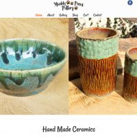 New Website for Muddy Paws Pottery Completed